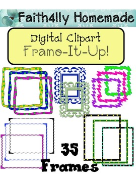 Digital Clipart: Frame It Up!  35 Frames
