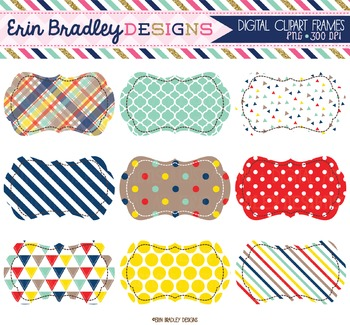 Digital Clipart Labels - Craft Collection