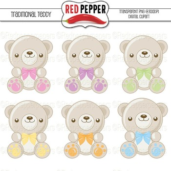 Clipart - Traditional Teddy