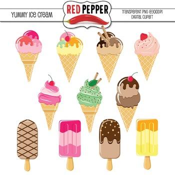 Free Digital Clipart - Yummy Ice Cream