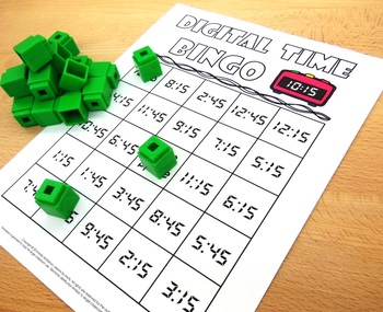 Tell Time for Quarter Past and Quarter Before the Hours {Bingo}
