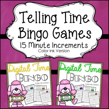 Telling Time Within 15 Minute Increments {Bingo}