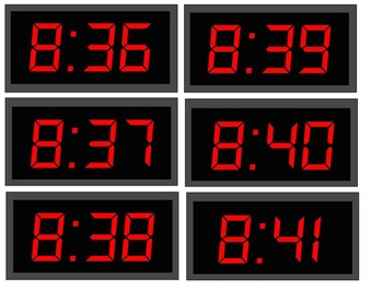 Digital Clock Bulletin Board for Schedules