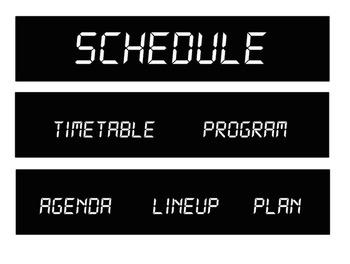 Digital Clock Bulletin Board for Schedules