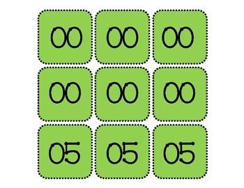 Digital Clock Cards