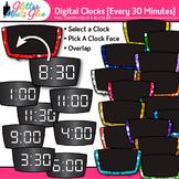 Digital Clock Clip Art Every 30 Minutes {Measurement Tools