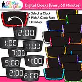 Digital Clock Clip Art Every 60 Minutes {Measurement Tools