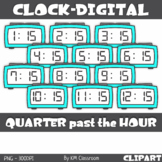 Digital Clock ClipArt Telling Time Quarter past the Hour