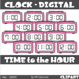Digital Clock ClipArt Telling Time to the Hour