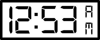 digital clock clipart bundle every minute am pm small large rh teacherspayteachers com digital alarm clock clipart digital clock time clipart