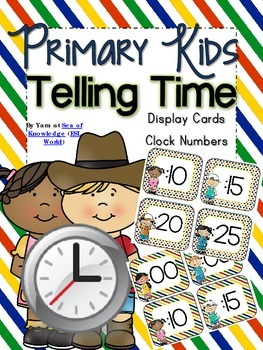 Digital Clock Display Cards {Primary Kids}