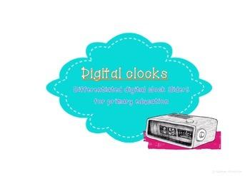 Digital Clock Sliders