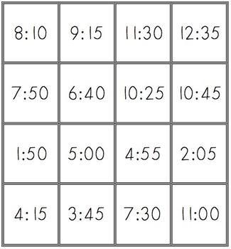 Digital Clock to Analog matching MACC.2.MD.3.7