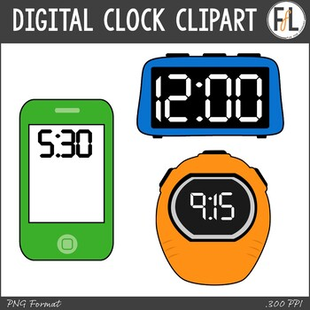 Digital Clocks Clipart
