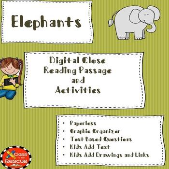 Digital Close Reading of Elephants Article