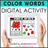 Digital Color Activities for Google Classroom™ and Seesaw™
