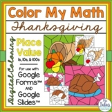 Digital Thanksgiving Math Coloring Activities Google™ Form