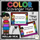 Digital Color Themed Scavenger Hunt and Directed Drawing A