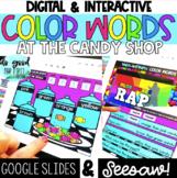 Digital Color Words FREEBIE - Google Slides & Seesaw - Dis