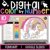 Digital Color by Number | Valentine's Day | Editable | Goo
