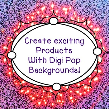 Art: Digital Colorful Photo POP BACKGROUNDS: Commercial & Personal Use
