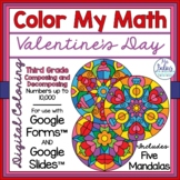 Digital Coloring Activities Valentine Math Google Forms™ a