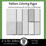 Digital Tessellation Coloring Book -  Full Page Patterns - Set 1