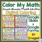 Digital Color by Code Math Activities Google Forms™ and Sl