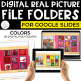 Digital Colors File Folders for Special Ed (REAL PICTURES)
