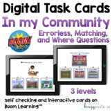 Digital Community Places Task Cards (3 levels) on Boom Cards™