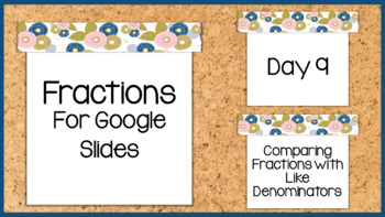 Digital Comparing Fractions with Like Denominators for Google Classroom