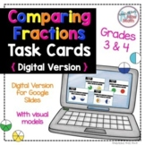 Digital Comparing Fractions with Visual Models Task Cards