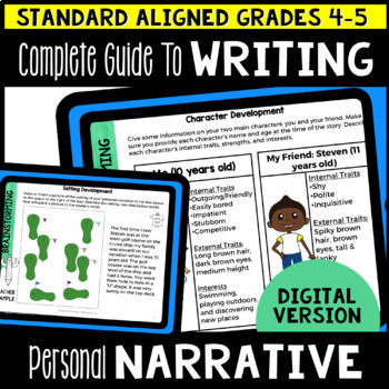 Digital Complete Guide to Personal Narrative Writing Gr 4-5 (Google Classroom)