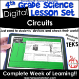 Digital Complete Lesson Set- 4th Grade Circuits DISTANCE LEARNING