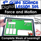 Digital Complete Lesson Set- 4th Grade Force and Motion DI