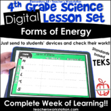 Digital Complete Lesson Set - 4th Grade Forms of Energy DI