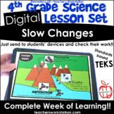 Digital Complete Lesson Set- 4th Grade Slow Changes DISTAN