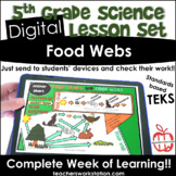 Digital Complete Lesson Set - 5th Food Webs DISTANCE LEARNING