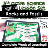Digital Complete Lesson Set - 5th Rocks and Fossils DISTAN