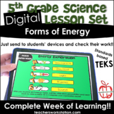 Digital Complete Lesson Set - Forms of Energy DISTANCE LEARNING