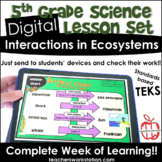 Digital Complete Lesson Set - Interactions in Ecosystems D