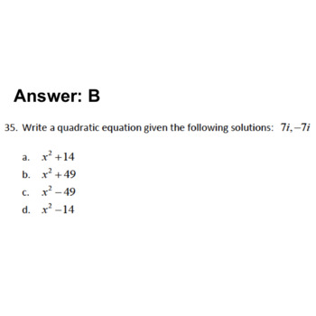 Digital Complex Numbers Semester Review Game, Editable, AP