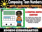 Digital Composing Teen Numbers with Summer Friends- Distan