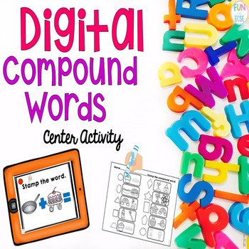 Digital Compound Words Center Activity