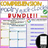Digital Comprehension Quick-Checks: Poetry Bundle