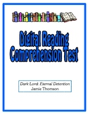 Digital Comprehension Test (Google Docs) - Dark Lord Eternal Detention
