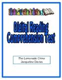 Digital Comprehension Test (Google Docs) - The Lemonade Crime