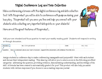 Digital Reading Conference Log and Data Collection