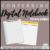 Conferring Notebook (Digital)