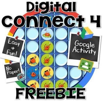 Digital Connect 4 Game FREEBIE ~ GOOGLE CLASSROOM